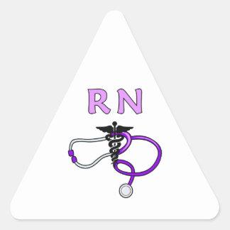 Estetoscopio del RN del oficio de enfermera Pegatina Triangular