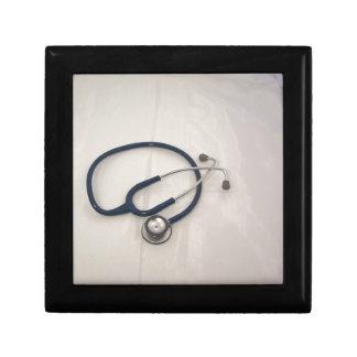 Estetoscopio médico y emergencia EMT Joyero Cuadrado Pequeño