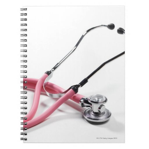 Estetoscopio rosado spiral notebooks