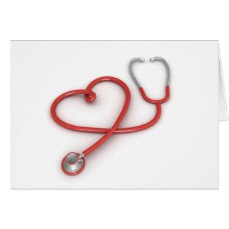 Estetoscopio y corazón felicitaciones