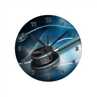 Estetoscopios médicos de la enfermera reloj redondo mediano