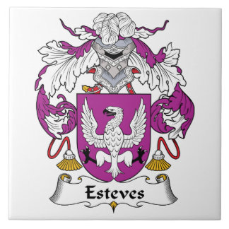 Esteves Family Crest Tile