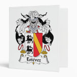 Estevez Family Crest 3 Ring Binders