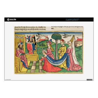 """Esther 2 15-18, Esther is chosen to be Queen by th 15"""" Laptop Skin"""