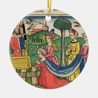 Esther 2 15-18, Esther is chosen to be Queen by th Ceramic Ornament