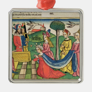 Esther 2 15-18, Esther is chosen to be Queen by th Metal Ornament