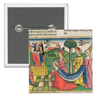 Esther 2 15-18, Esther is chosen to be Queen by th Pinback Button