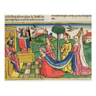 Esther 2 15-18, Esther is chosen to be Queen by th Postcard