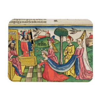 Esther 2 15-18, Esther is chosen to be Queen by th Rectangular Photo Magnet
