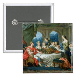 Esther and Ahasuerus, c.1775-80 2 Inch Square Button