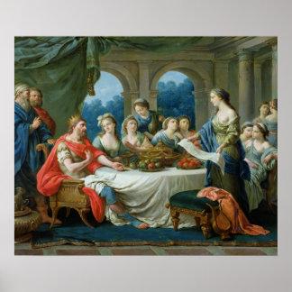 Esther and Ahasuerus c 1775-80 Poster