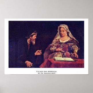 Esther And Mordecai By De Gelder Aert Print