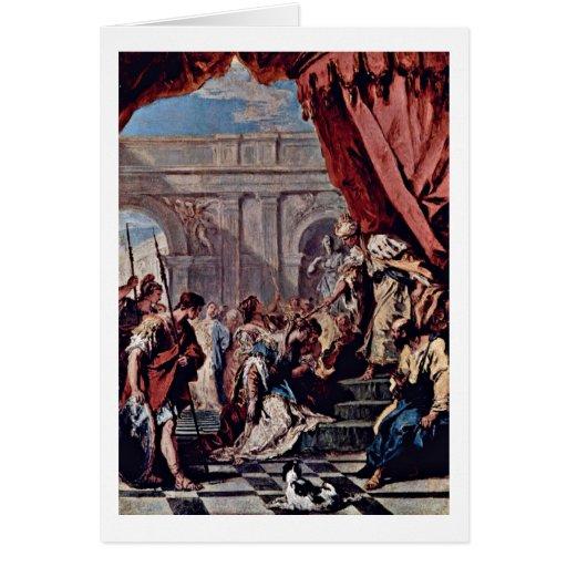Esther ante rey persa By Sebastiano Ricci Tarjeta De Felicitación