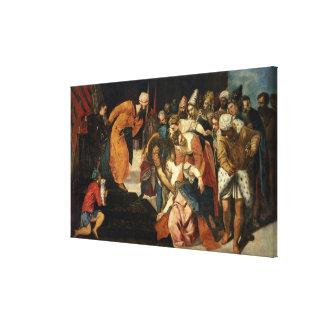 Esther antes de Ahasuerus, 1548 Impresiones En Lienzo Estiradas