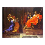Esther antes de Ahasuerus de Nicolás Poussin Postales