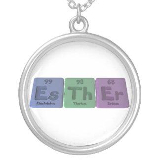 Esther as Einsteinium Thorium Erbium Round Pendant Necklace
