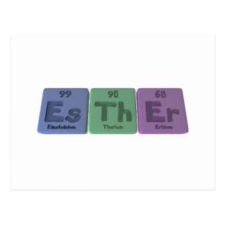 Esther as Einsteinium Thorium Erbium Postcard