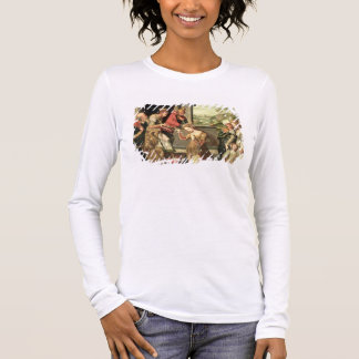 Esther before King Ahasuerus with Haman being sent Long Sleeve T-Shirt