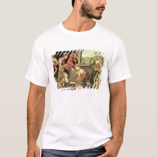 Esther before King Ahasuerus with Haman being sent T-Shirt