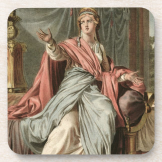 Esther, costume for 'Esther' by Jean Racine, from Drink Coaster
