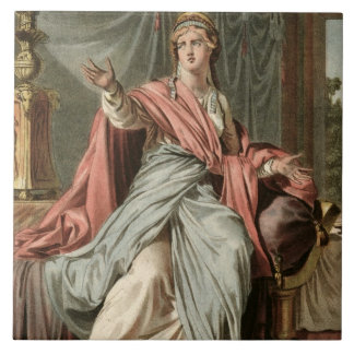 Esther, costume for 'Esther' by Jean Racine, from Tile