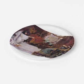 Esther Denouncing Haman Paper Plate
