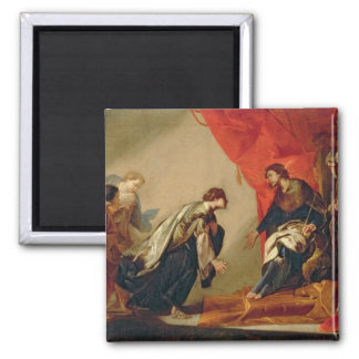 Esther in front of Ahasuerus, c.1645-50 (oil on ca 2 Inch Square Magnet