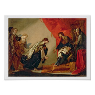 Esther in front of Ahasuerus c 1645-50 oil on ca Poster