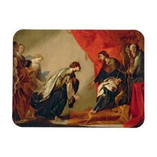Esther in front of Ahasuerus, c.1645-50 (oil on ca Rectangular Photo Magnet