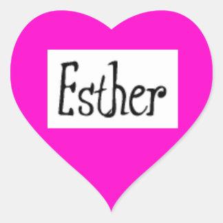 Esther name heart sticker