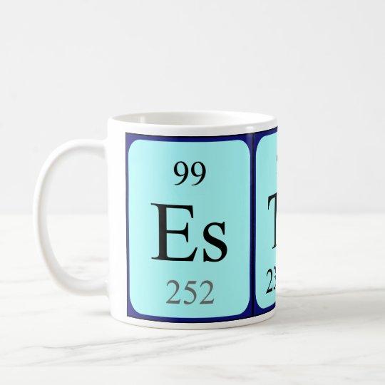 Esther periodic table name mug