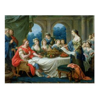 Esther y Ahasuerus c 1775-80 Postal