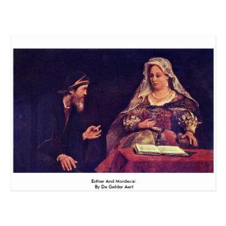 Esther y Mordecai By De Gelder Aert Postales