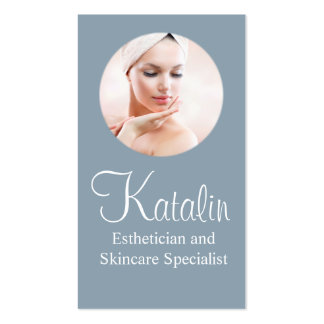 Esthetician and Skincare Specialist Business Card
