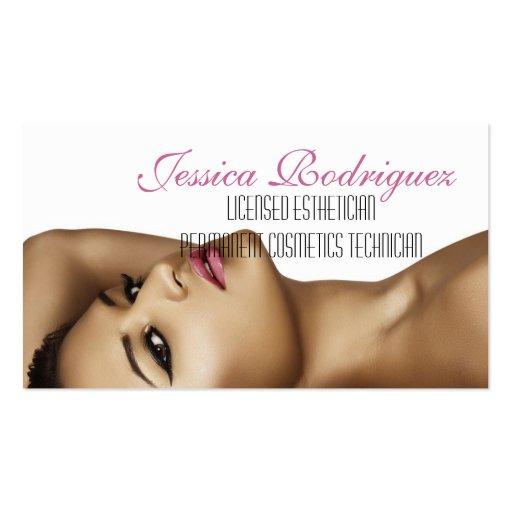 esthetician beauty skin care business card zazzle. Black Bedroom Furniture Sets. Home Design Ideas