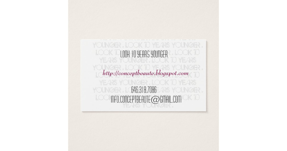 Skin Care Business Cards