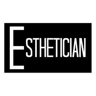 Esthetician Black and White Business Card