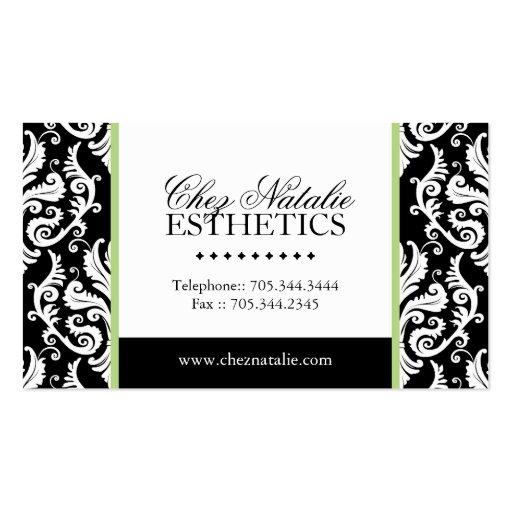 esthetician business card zazzle. Black Bedroom Furniture Sets. Home Design Ideas