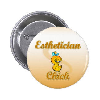 Esthetician Chick 2 Inch Round Button