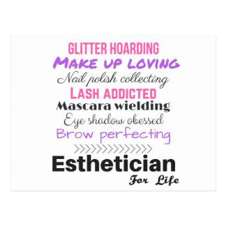 Esthetician for life postcard