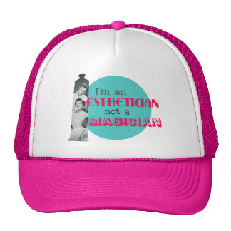 Esthetician Not a Magician Vintage Trucker Hat