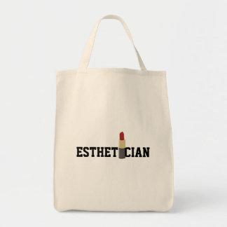 Esthetician Red Lipstick Makeup Artist Tote Bag