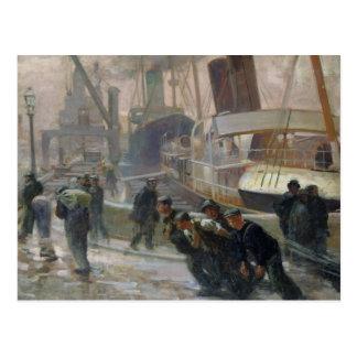 Estibadores de Liverpool en Dawn, 1903 Postal