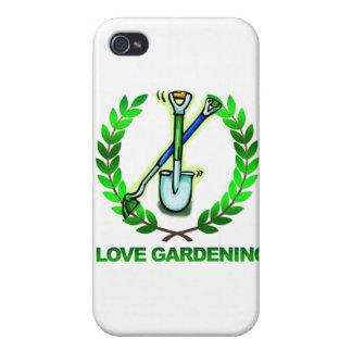 Estiércol vegetal del iGuide que cultiva un huerto iPhone 4 Protectores