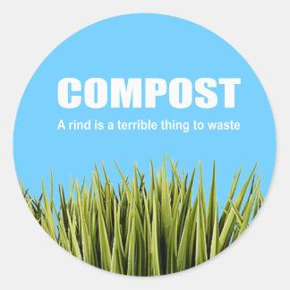 Estiércol vegetal: Una corteza es una cosa terribl Etiqueta