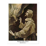 Estigmas de St Francis de El Greco Tarjeta Postal