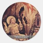 Estigmatización de St Francis Pegatina Redonda