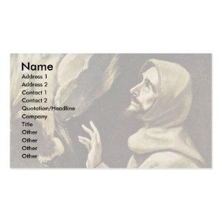 Estigmatización de St Francis por el EL de Greco Tarjetas De Visita