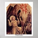 Estigmatización de St Francis Poster