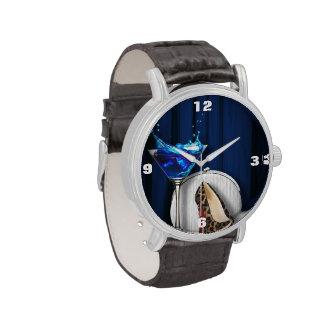 estilete femenino de moda del estampado leopardo reloj de mano